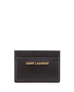 Letters Credit Card Case, Black   Saint Laurent   Black