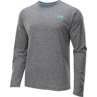 THE NORTH FACE Mens Reaxion Amp Long Sleeve T Shirt   Size L, Heather Grey