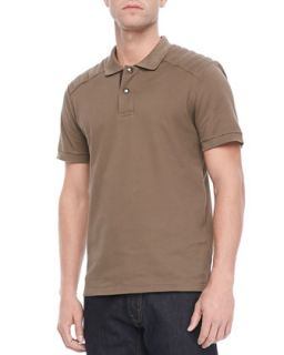 Mens Aspley Textured Jersey Polo, Tan   Belstaff   Tan (L)