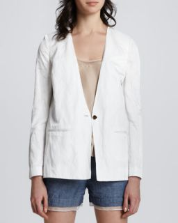 Womens Athena Split Side Blazer   Elizabeth and James   Bone (2)
