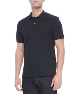 Mens Aspley Textured Jersey Polo, Navy   Belstaff   Navy (XL)