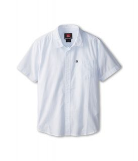Quiksilver Kids Barracuda Cay S/S Button Down Boys Short Sleeve Button Up (White)