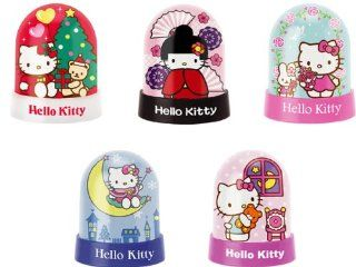 Authentic Hello Kitty Happy Holidays Merry Christmas Petite Snow Globe   You Only Get One (1), Sent Randomly.