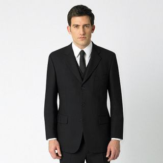 Jeff Banks Black plain single breasted three button travel suit jacket