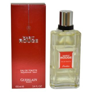 Mens Habit Rouge by Guerlain Eau de Toilette Spray   3.4 oz