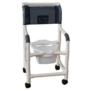 MJM International Standard Deluxe Shower Chair with Slide Out Commode