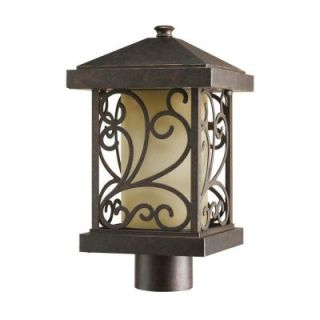 Progress Lighting Cypress Collection Forged Bronze 1 light Post Lantern P5411 77