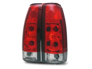 88 98 C10 C/K Full Size/Tahoe/92 94 Blazer/99 00 Escalade Red Clear Tail Lights
