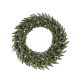 Vickerman Pre Lit 60 in Camdon Fir Artificial Christmas Wreath with 400 Count Incandescent Lights