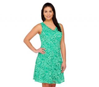 Isaac Mizrahi Live Sleeveless Lace Dress   A263844 —