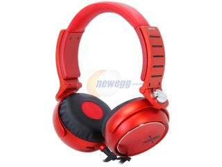 Open Box SONY Black/Red MDR X05/BR Headphones, Red