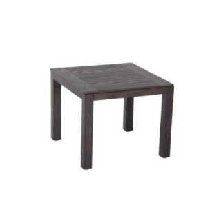 Hampton Bay Walnut Creek 20 in. Square Patio Side Table DISCONTINUED FTS80517