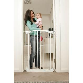 Dreambaby Chelsea Tall Swing Close Gate Combo Pack  White   Baby