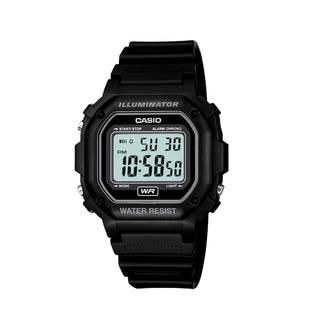 Casio Mens Calendar Day/Date Watch with Black Case, Digital Dial and