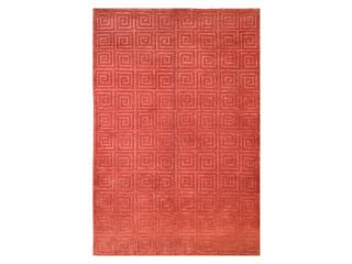 Hand Knotted Greek Key Rug in Rust (8 ft. x 10 ft.)