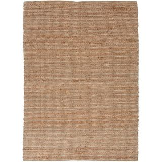 Handmade Naturals Solid Pattern Brown Rug with 0.4 Inch Pile (5 x 8