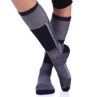 Smart Socks Navy Merino Wool Cushioned Ski Socks (Pack of 3