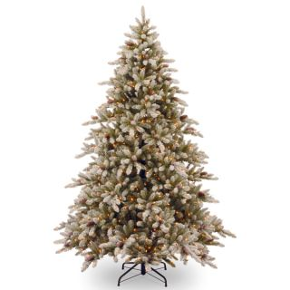 foot Snowy Concolor Fir Hinged Tree with Snowy Cones and 950 Ready