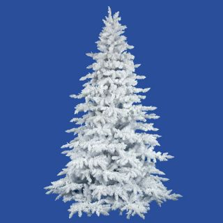 Vickerman 4.5 Flocked White Spruce Full Artificial Christmas Tree