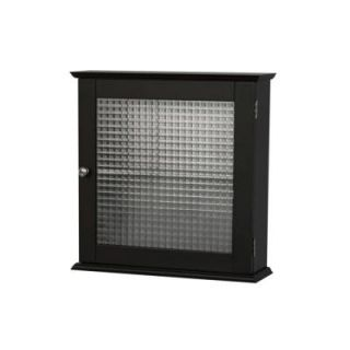 Elegant Home Fashions Cape Cod 18.5 in. x 5 in. Surface Mount Medicine Cabinet with Glass Door in Espresso HD16193