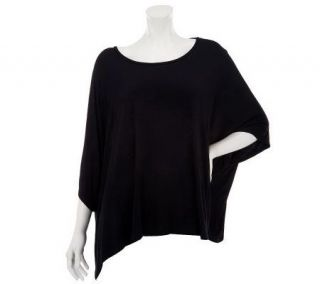 Lisa Rinna Collection Scoopneck Elbow Sleeve Boxy Knit Top —