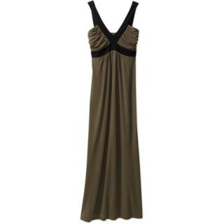 Miss Tina Women's Colorblocked Maxi Dress