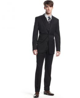 Bar III Black Solid Slim Fit Suit Separates   Suits & Suit Separates