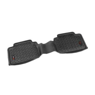 Rugged Ridge Floor Liner Rear 1 Piece Black 2005 2013 Tacoma Double/Access Cab 82954.10