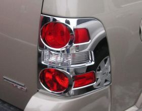 2007, 2008, 2009 Ford Explorer Chrome Light Covers   Putco 401268   Putco Chrome Tail Light Covers