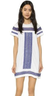 Moon River Contrast Lace Trimmed Dress