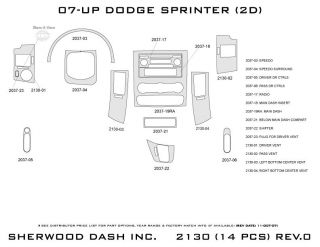 2007, 2008, 2009 Dodge Sprinter Wood Dash Kits   Sherwood Innovations 2130 CF   Sherwood Innovations Dash Kits