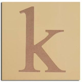 "Pack of 2 Decorative Expressive Unfinished Wood Lower Case Letter ""k"""