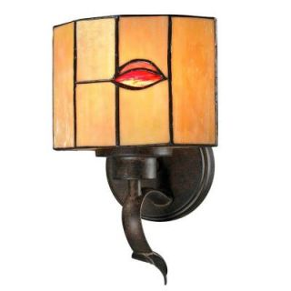 Dale Tiffany Fantom Leaf 1 Light Rustic Bronze Sconce TW12449