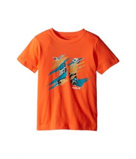 Hurley Kids Torn Short Sleeve Tee (Little Kids) Turf Orange