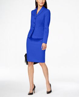 Le Suit Three Button Skirt Suit   Wear to Work   Women