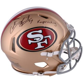 Colin Kaepernick San Francisco 49ers  Authentic Autographed Riddell Revolution Speed Pro Line Helmet with Kaepernicking Inscription