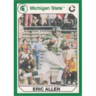 Autograph Warehouse 101235 Eric Allen Football Card Michigan State 1990 Collegiate Collection No.  67