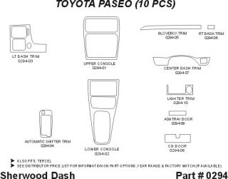 1995 1998 Toyota Tercel Wood Dash Kits   Sherwood Innovations 0294 CF   Sherwood Innovations Dash Kits