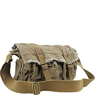 Vagabond Traveler Vintage Style Large Canvas Messenger Bag