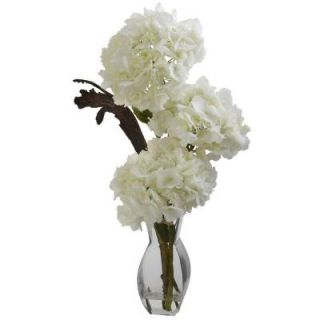 Nearly Natural Triple Hydrangea with Vase 1325
