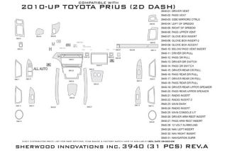 2010 2013 Toyota Prius Wood Dash Kits   Sherwood Innovations 3940 R   Sherwood Innovations Dash Kits
