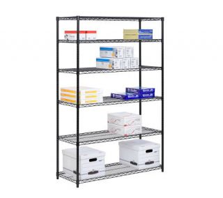 Honey Can Do 6 Tier Black Steel Commercial Grade Shelving Unit —