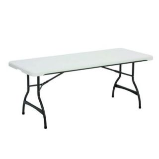 Lifetime 6 ft. White Commercial Stacking Folding Table 80306