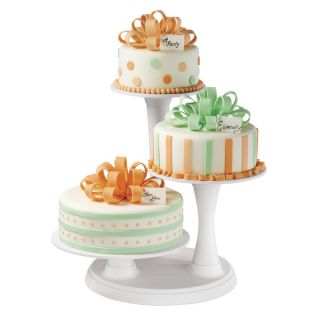 Off white 3 tier Pillar Cake Stand   13357564   Shopping