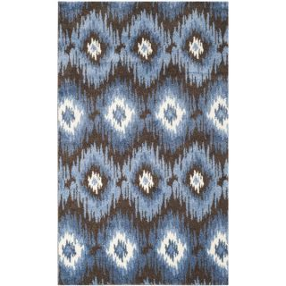 Safavieh Retro Dark Brown/ Blue Rug (8 x 10)