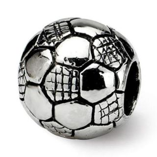 Sterling Silver Reflections Kids Soccer Ball Bead