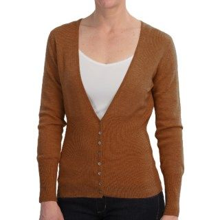 Deep V Neck Cashmere Cardigan Sweater (For Women) 9024U 67