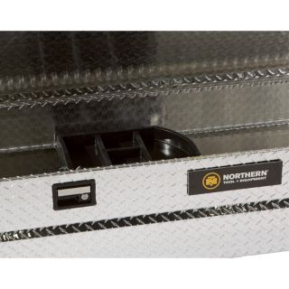Aluminum Single-Lid Crossbed Truck Box — Diamond Plate, 72in.L x 20 1/2in.W x 15 1/2in.H
