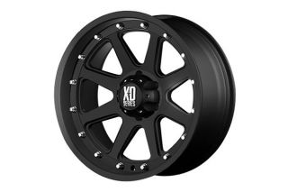 "XD Series XD79829088718   8 x 180mm Bolt Pattern Black 20"" x 9"" 798 Addict Matte Black Wheels   Alloy Wheels & Rims"