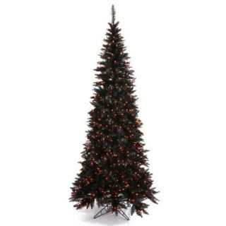 Vickerman 6.5' Tinsel Green Slim Fir Artificial Christmas Tree with 400 Mini Lights